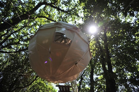 Cocoon Tree Tent for two by the lake