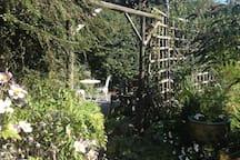 Pretty, private cottage garden