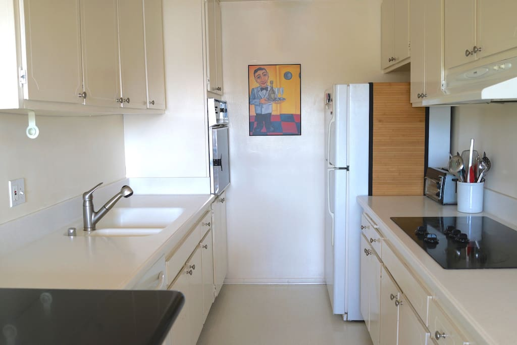 Full sized kitchen. Designed for fast and easy cleaning!
