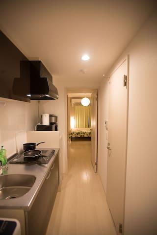 步行5分钟 道顿堀 & 心斋桥, 全新高级公寓1 - Osaka - Leilighet