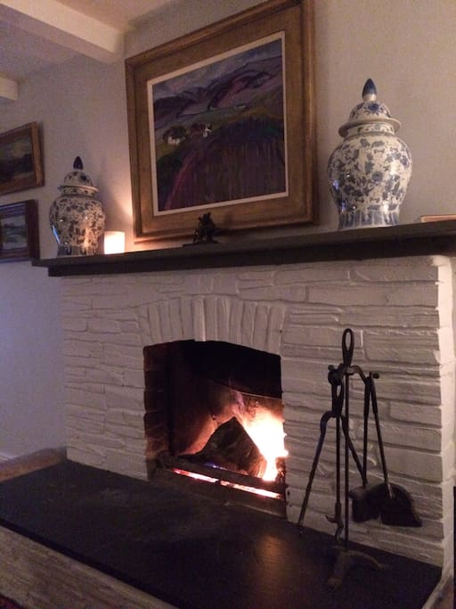 The sitting room is warm and cosy in Winter and ideal for storm watching.