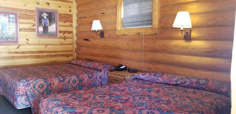 Two Queen beds.
