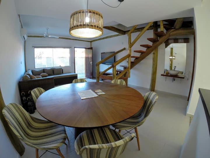 Casa  Maresias, Condomínio EcoFlat, 200m da Praia!
