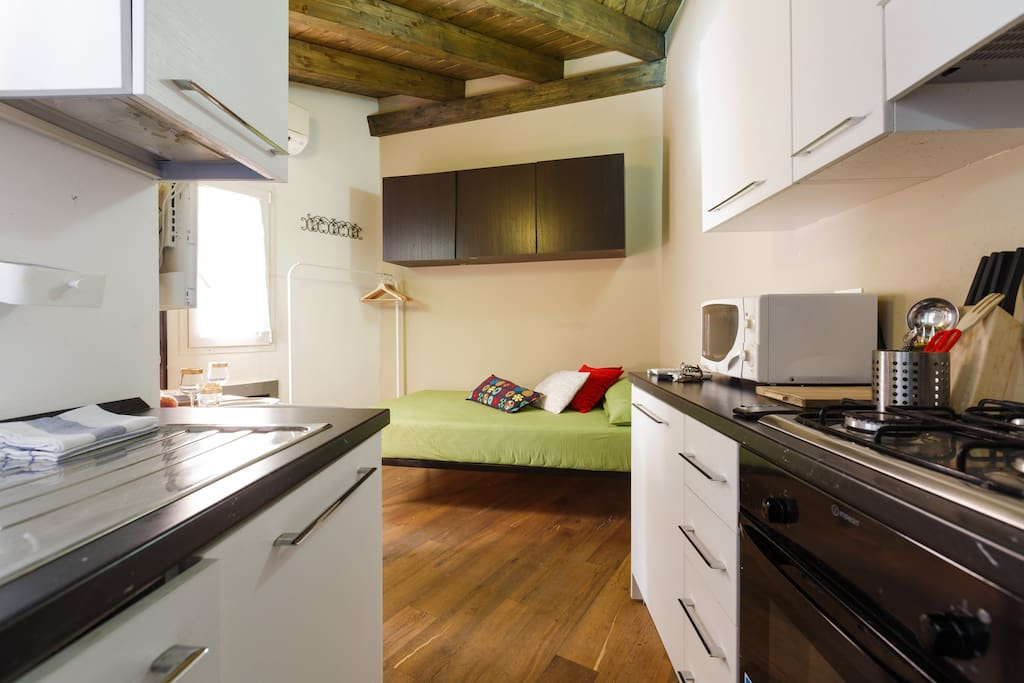 Cucina e zona notte/Kitchen and night's zone