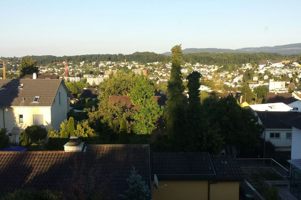 View from your bedroom down the 'Leimental' including the 'Gempen'-the well known local mountain