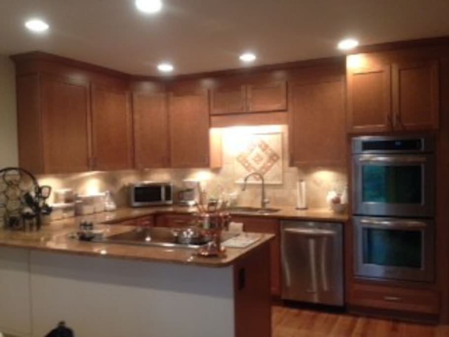 Clean and warm kitchen.  Newly renovated.