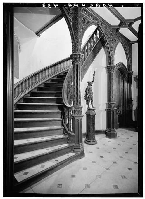 Main staircase to guest rooms