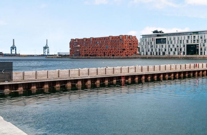 The Amerika Plads apartment is located on fashionable Østerbro by the harbor.