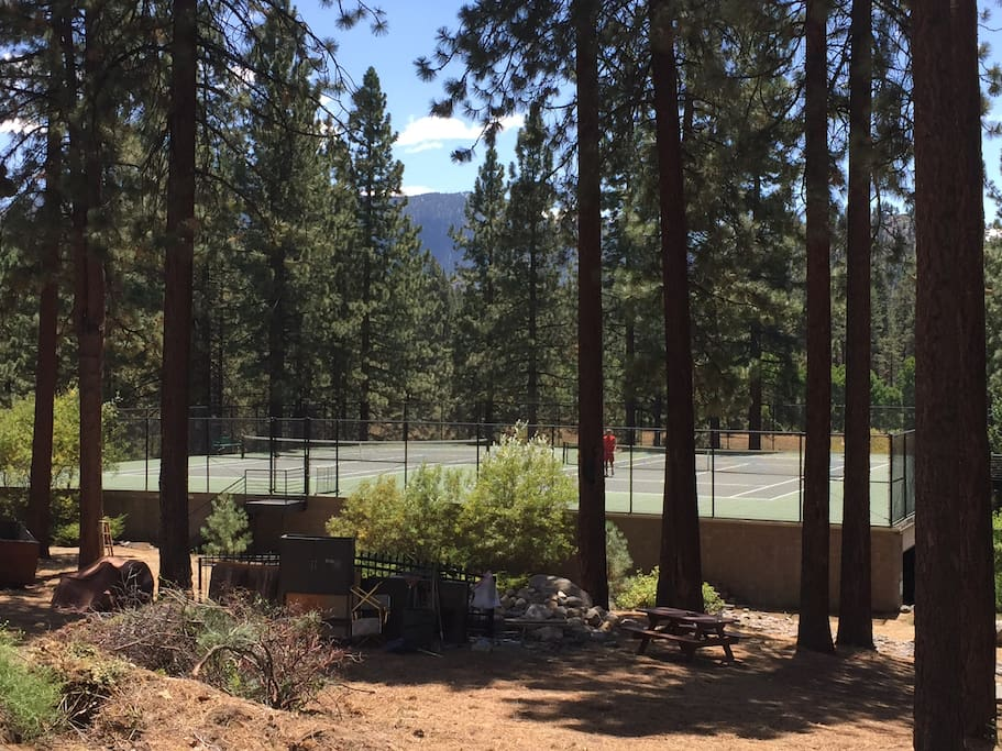 Two private Tennis Courts.