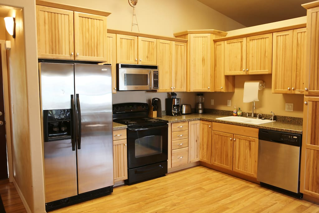 Kitchen with all appliances.