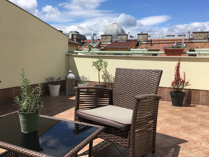 Lovely flat with ROOF TOP TERRACE*** kids friendly