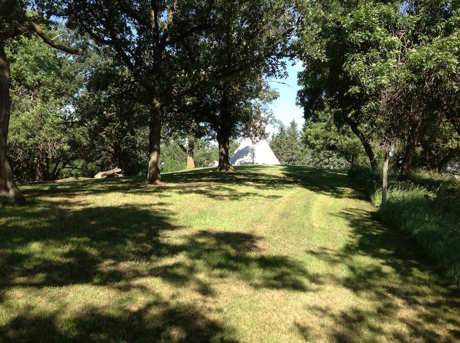 Tipi on the hill top
