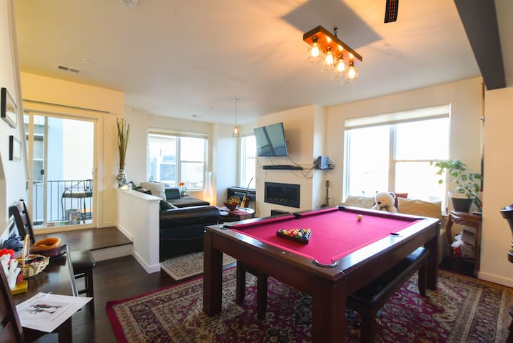 Perfect room w/ hot tub, sauna + pool table!