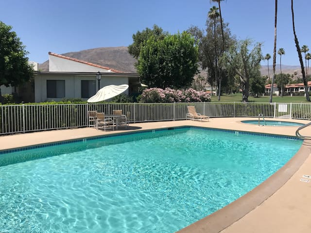 Community pool and spa #1.  Just a short walk from the condo!