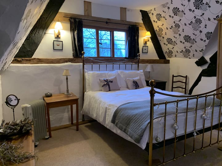 Double room in private wing of Farmhouse.