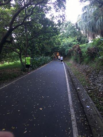 前方腳踏車步道