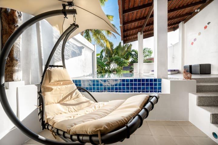 Private swimming pool 1 bedroom - HONEYMOON