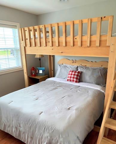 Bedroom 2:  Queen Plus Single Loft Bed