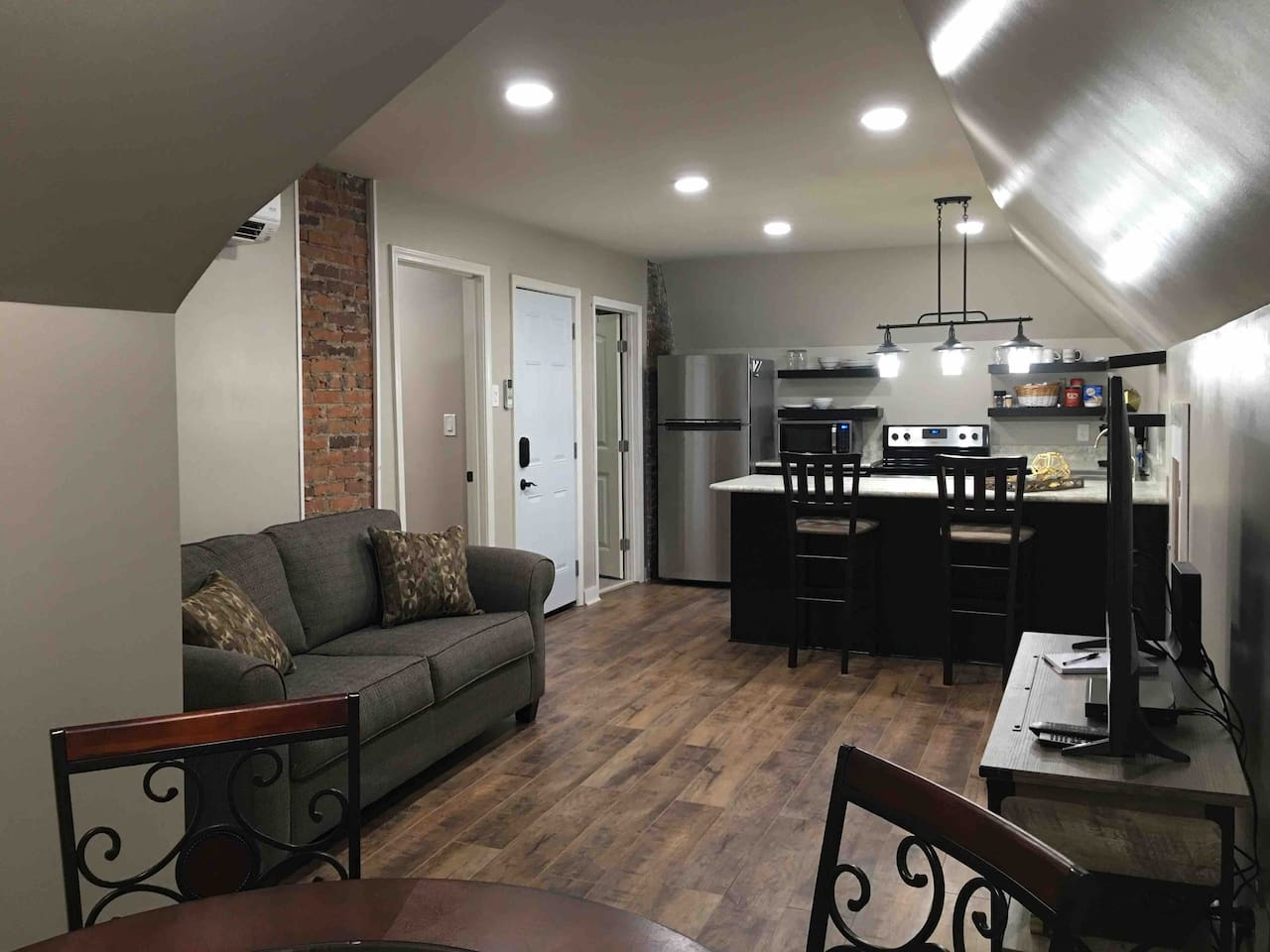 Nearly 500 square feet of quiet, comfortable living space.