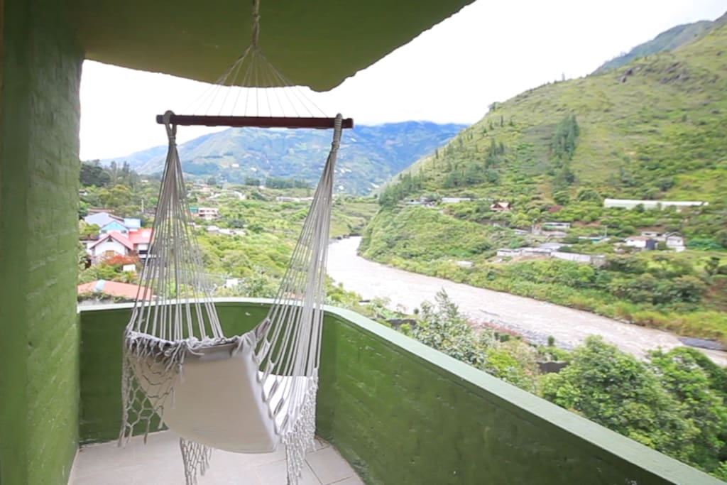 private balcony with hammock swing