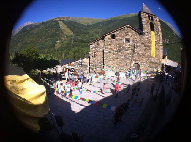 Summer party in the mai square of the village.