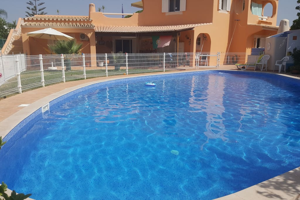 Private big pool         ( 15X10 meters ) available for guests. Apartment is the first floor of the house.