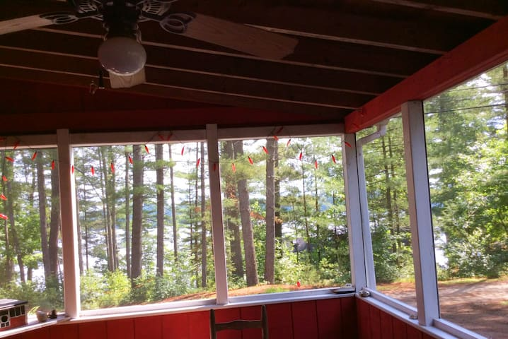 View inside screen porch and entryway