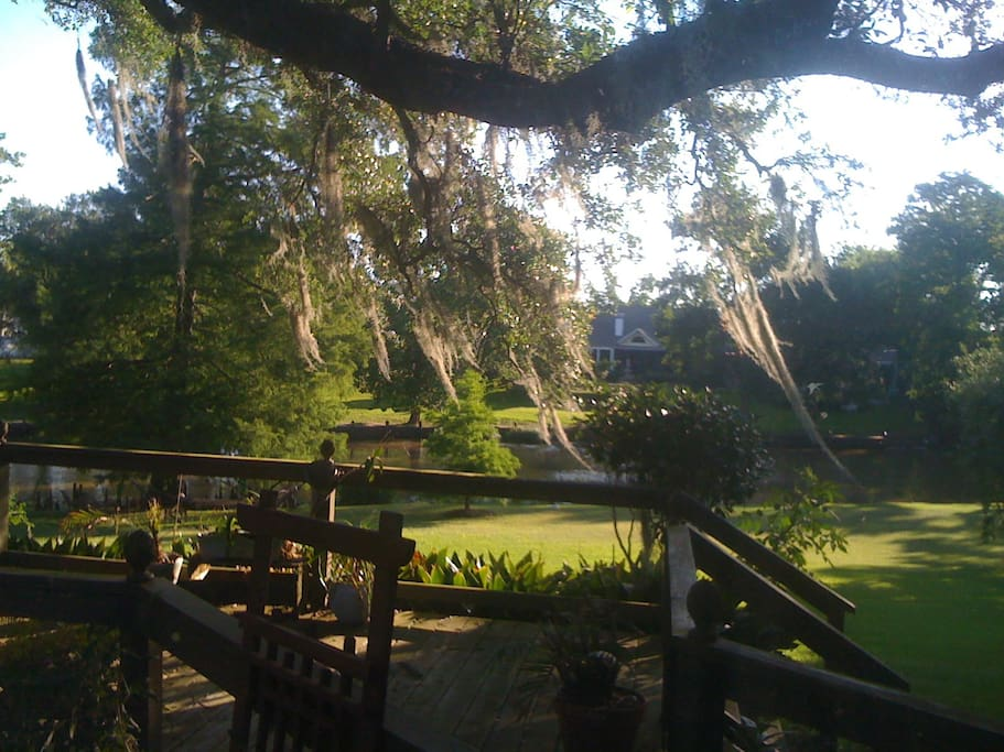 Bayou view from the backyeard deck