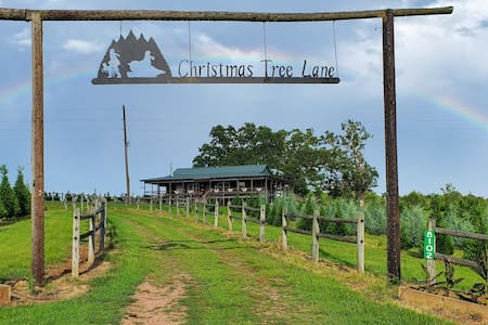 The Christmas Cabin on a real Christmas tree farm!