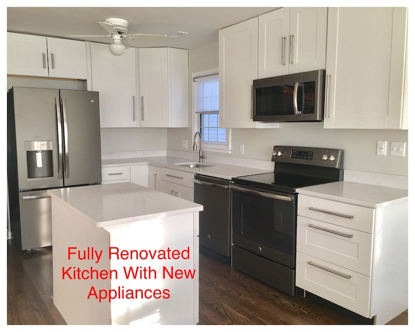 Brand new kitchen and appliances.