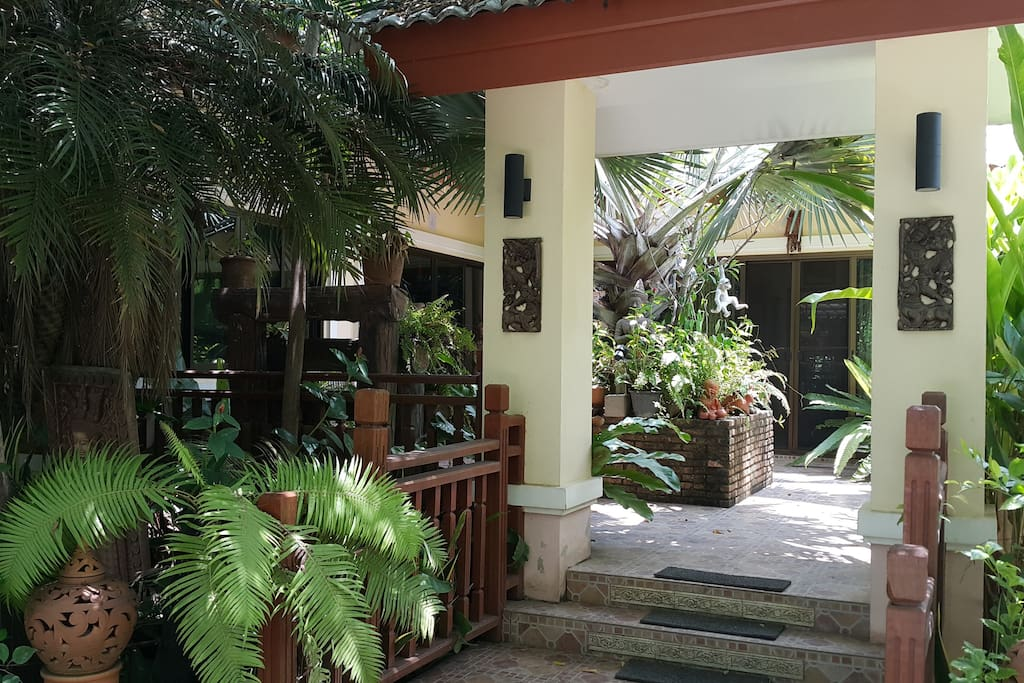 Courtyard pillars