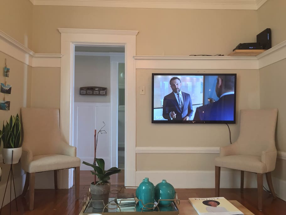 Large TV with basic cable for use during your stay