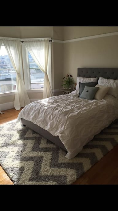 Spacious bedroom with Queen-sized bed