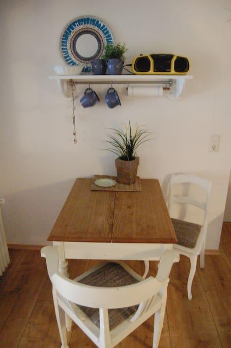 Essbereich in der offenen Küche