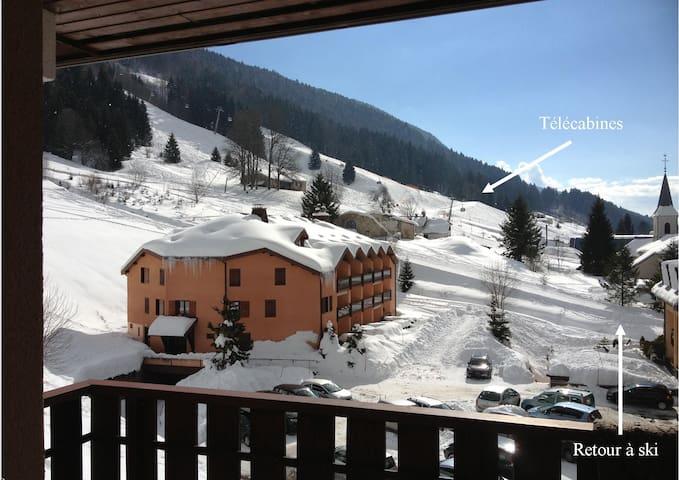 Lélex Monts-Jura,duplex,2ch,45m²,pied des pistes