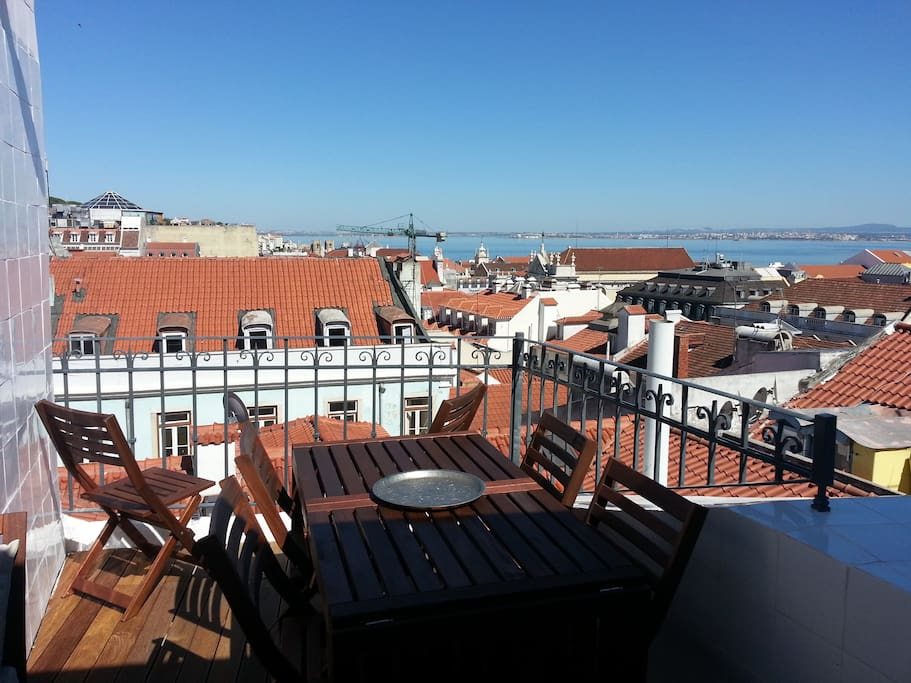 Lisbon Best view. Enjoy it from this Amazing Terrace!