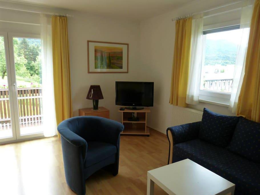 Wohn- und Schlafraum, Flatscreen, Zugang Balkon
