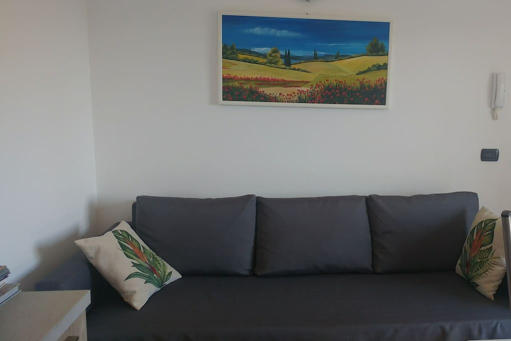 Divano / divano letto adatto a due bambini (200 x 140)