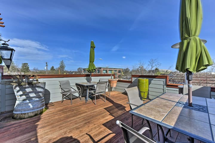 'The Loft on Center' Downtown Logan Apt. w/ Deck!