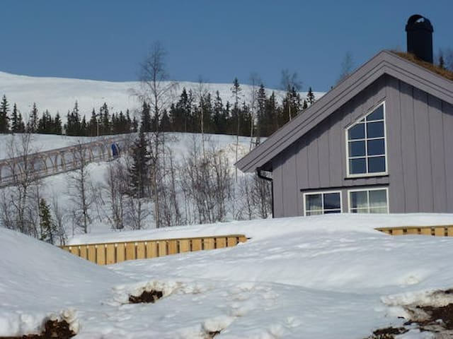 New cozy cab., Solsiden, ski in/out - Trysil - Kabin