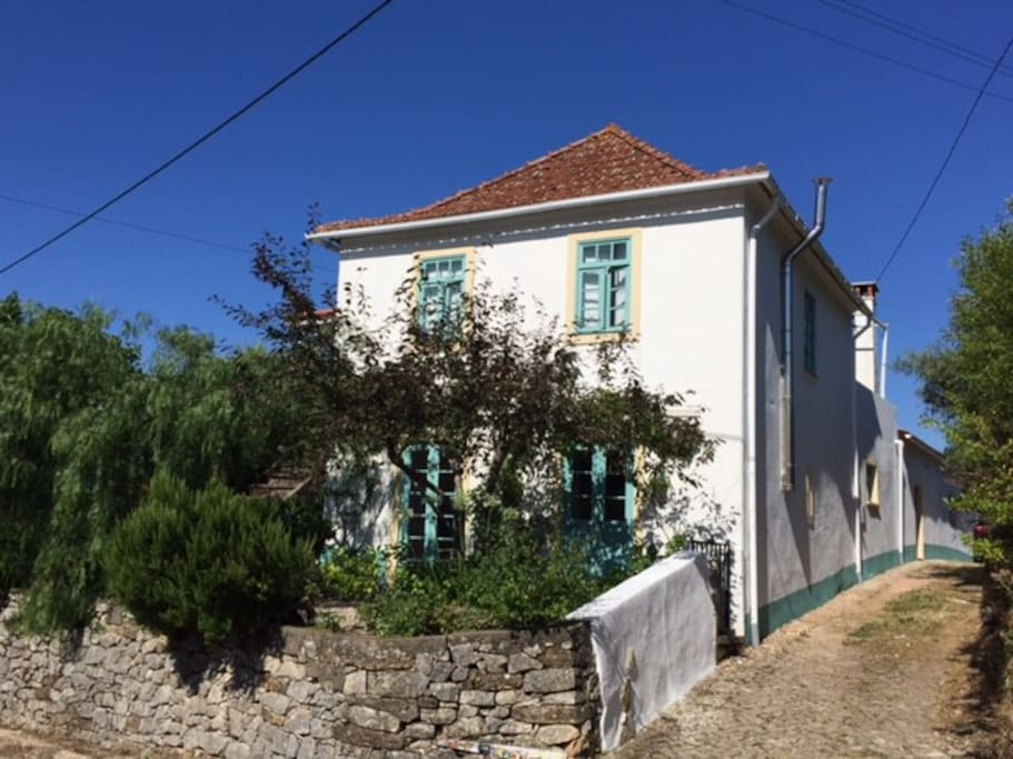 View from the road (guest accommodation at the back)