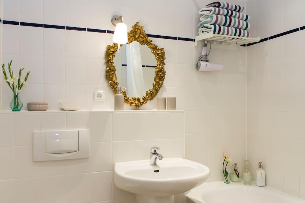 your wellness area with bathtub