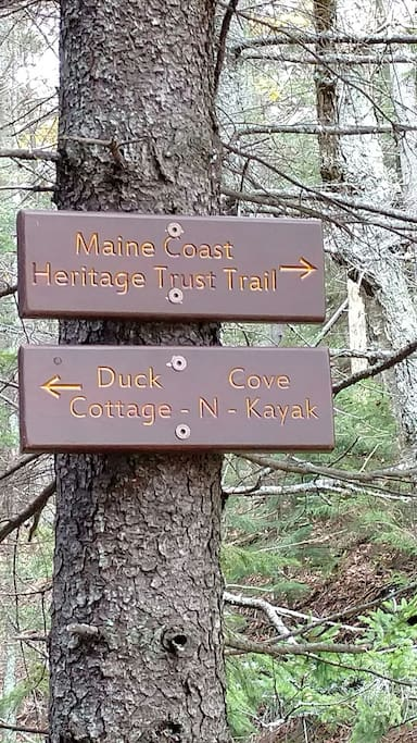Surrounded by preservation land hiking trails