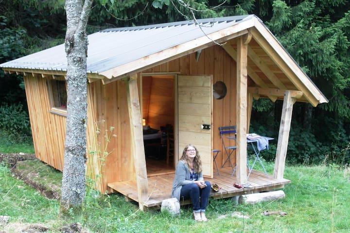 La hutte insolite dans la nature - Lac-des-Rouges-Truites - Houten huisje