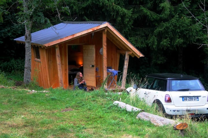 La hutte insolite dans la nature - Lac-des-Rouges-Truites