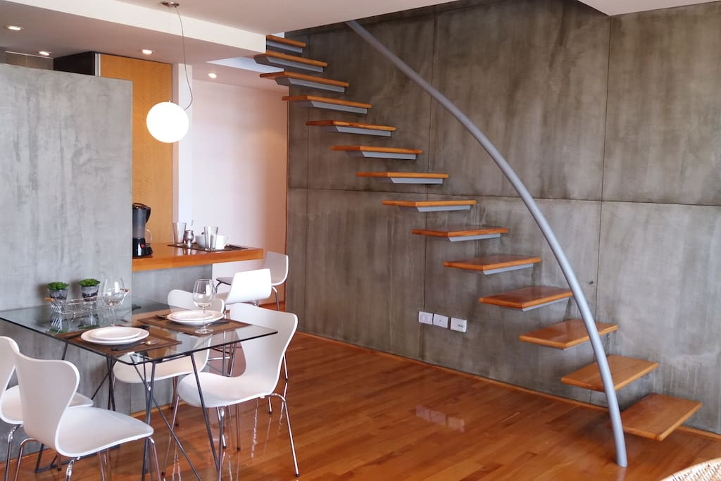 dinning table and stairs