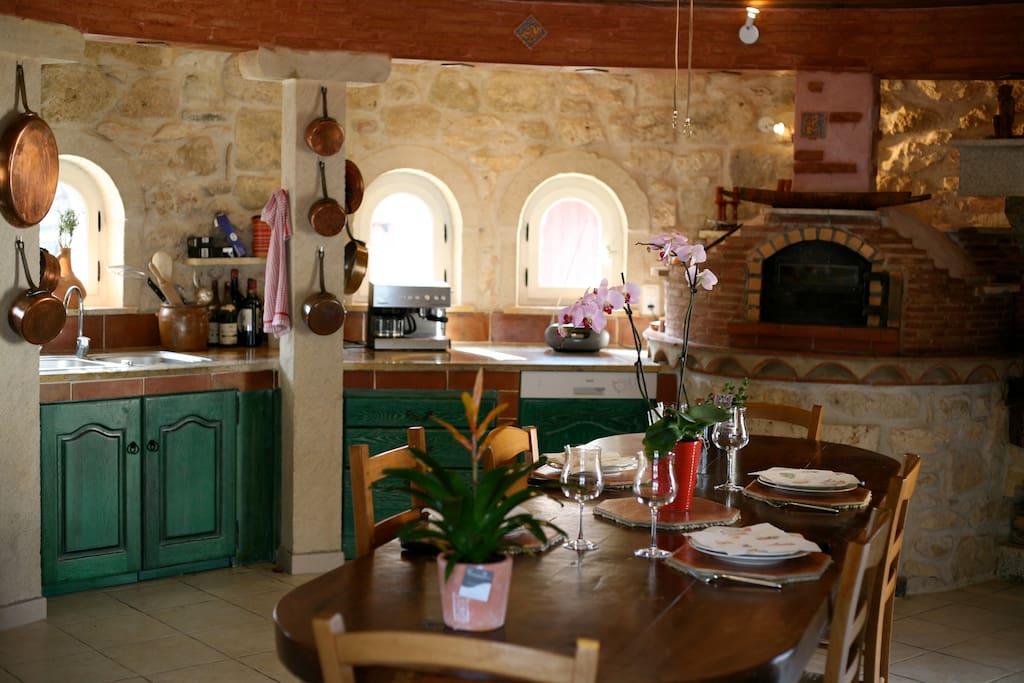 La salle à manger dans la tour