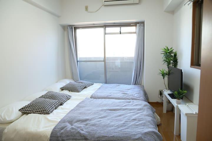 Great Location!!Next to OCAT Namba Sta+WIFI 2-4ppl - Naniwa-ku, Ōsaka-shi - Wohnung