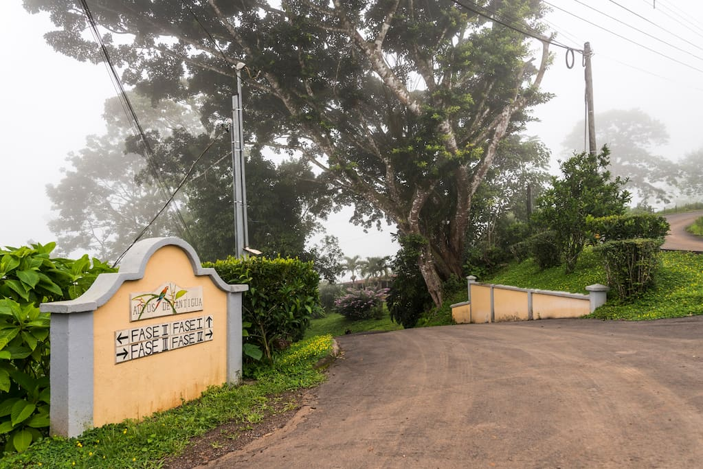 entrance to the gated community of Altos De Antigua where A C Ranch is located