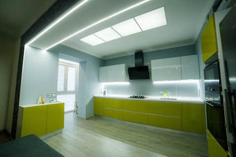 Big 2 rooms studio apartment in center of Poltava